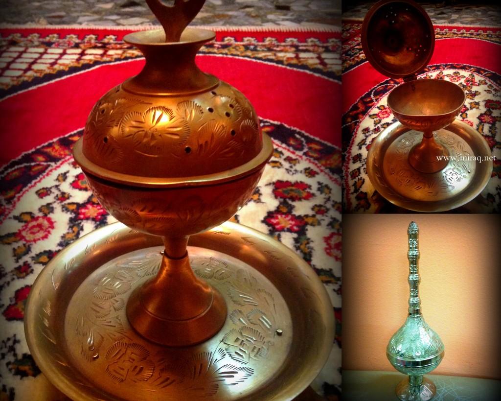 Одна из видов ламп для благовоний и металлическая (серебристая) подставка для индийских аромапалочек