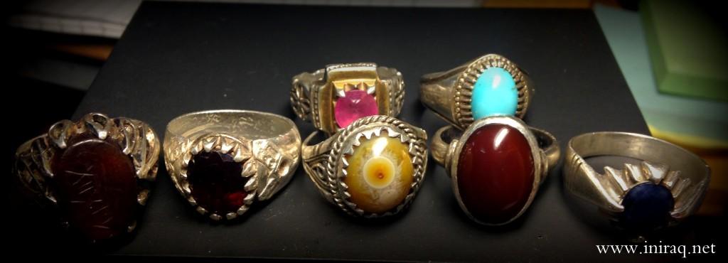 Серебряные мужские кольца с натуральными камнями