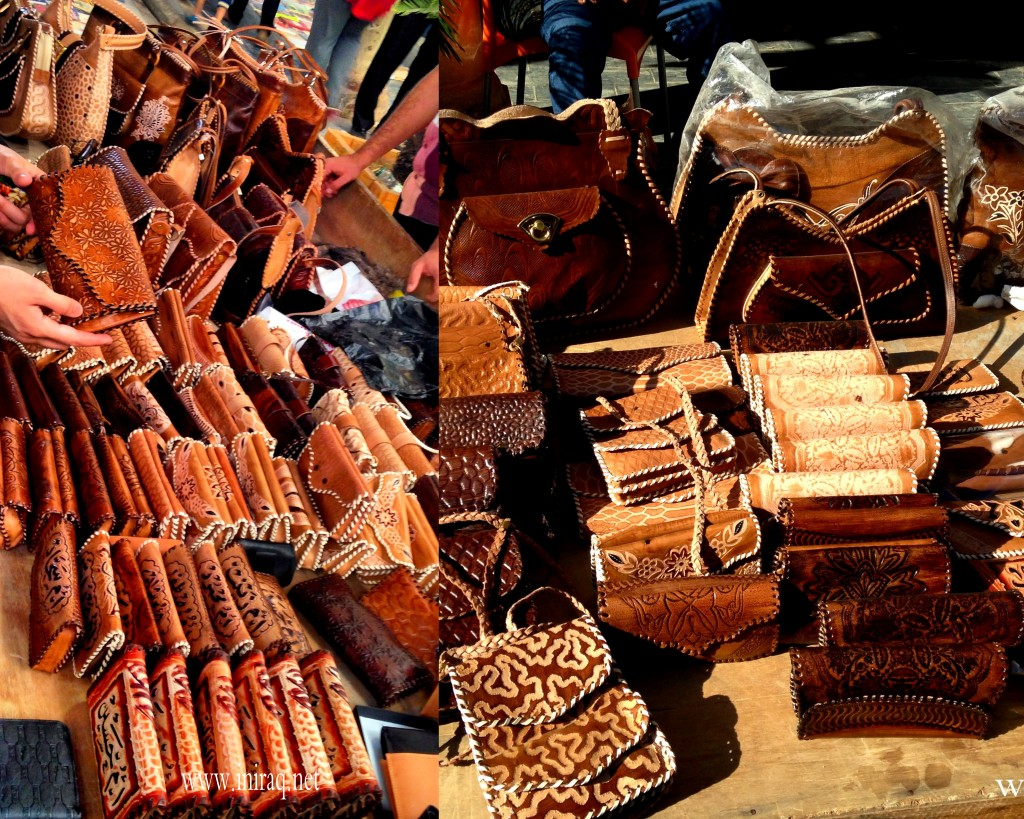 Handmade leather purses and bags