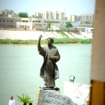 Statue of Iraqi poet Ahmad al-Mutanabbi