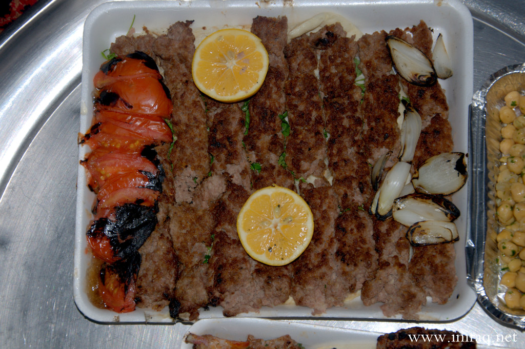 Iraqi kebab prepared on the bazaar